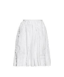 Rochas | Ruffle-Trimmed High-Waisted Skirt