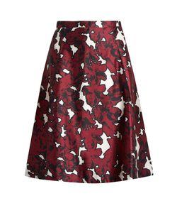 Oscar de la Renta | -Print Silk-Mikado Skirt