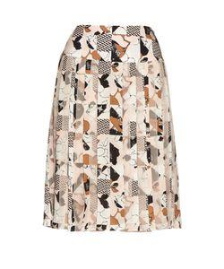 Oscar de la Renta | Graphic-Print Pleated Skirt