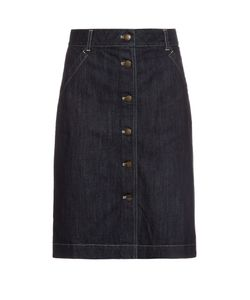 Tomas Maier | Button-Through Denim Skirt