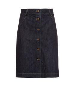 Tomas Maier | Button-Through Denim Skirt