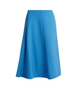 Marni | Wool-Crepe High-Waisted Skirt