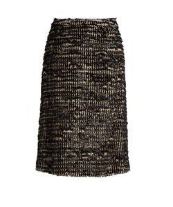 Simone Rocha | Textured-Tweed Skirt