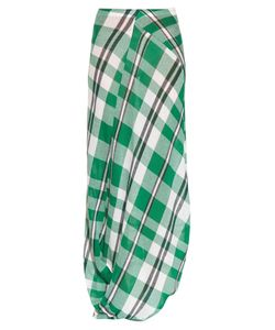 Stella Mccartney | Drape-Hem Checked-Print Maxi Skirt