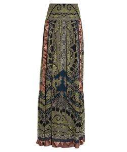 Etro | Paisley And Graphic-Print Silk Skirt