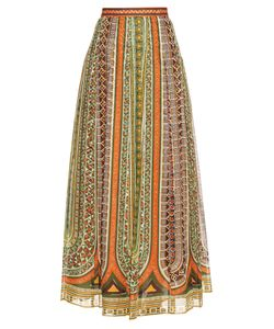 Valentino | Tribal Ribbon-Print Cotton-Muslin Maxi Skirt