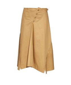 Y'S BY YOHJI YAMAMOTO | Buttoned-Front Flared Cotton Midi Skirt