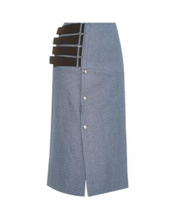 JOE RICHARDS | Pica Denim-Tweed Pencil Skirt