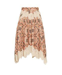 Zimmermann | Empire Konya-Print Linen Skirt