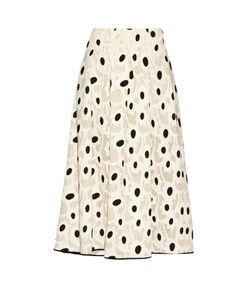Oscar de la Renta | Fil Coupé Silk-Blend Midi Skirt