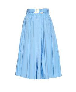 TRADEMARK | Belted Cotton-Blend Skirt