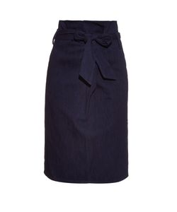 Tibi | Paperbag-Waist Cotton Skirt