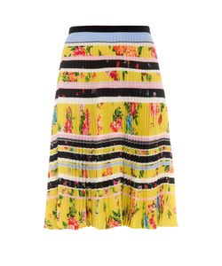 Mary Katrantzou | Fontaine Lemon Blossom-Print Pleated Skirt