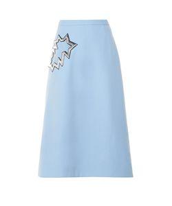 Christopher Kane | Smash-Pocket Crepe Midi Skirt