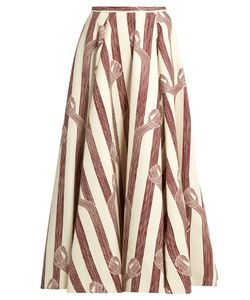 Emilia Wickstead | Eleanor Linear-Print Midi Skirt