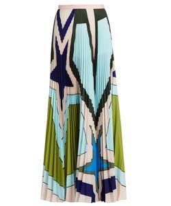 Mary Katrantzou | Pelar Pleated Crepe De Chine Maxi Skirt