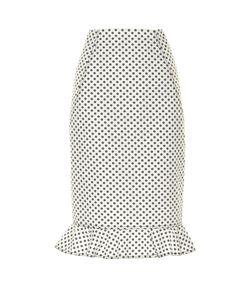 Oscar de la Renta   Daisy-Print Cotton Skirt