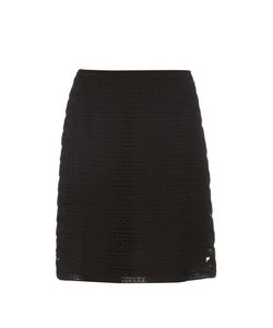 Burberry Prorsum | High-Waist Cotton-Blend Lace Skirt