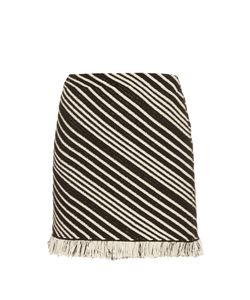 Sonia Rykiel | Diagonal-Stripe Mini Skirt