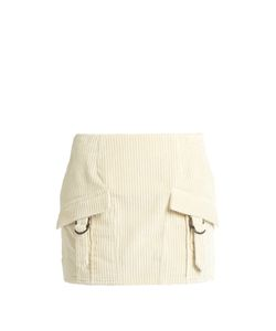 Anthony Vaccarello | Ribbed-Velvet Mini Skirt