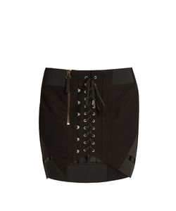 Anthony Vaccarello | Corset-Front Cotton Skirt