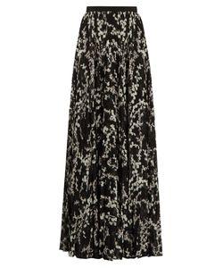 Giambattista Valli | -Print Pleated Silk Maxi Skirt