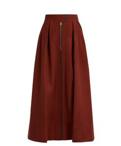 MAFALDA VON HESSEN | Box-Pleated Wool Skirt