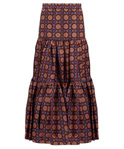 LA DOUBLEJ EDITIONS | The Maiolica-Print Big Skirt