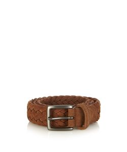 ANDERSON'S | Woven-Suede Belt