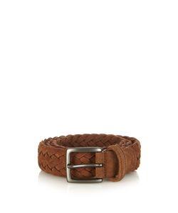 ANDERSON'S | Woven-Suede Belt