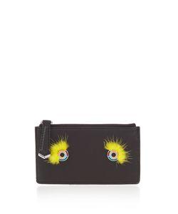 Fendi | Monster Eyes Mink-Fur And Leather Cardholder