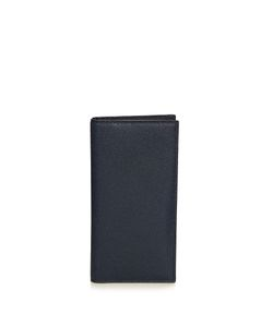 Valextra | Vertical Grained-Leather Wallet
