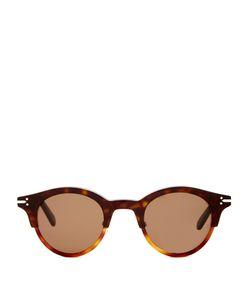 CÉLINE SUNGLASSES | Julia Bi-Color Round-Frame Sunglasses