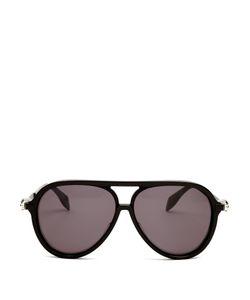 Alexander McQueen | Skull-Hinge Acetate Sunglasses
