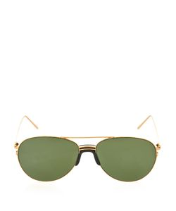 Linda Farrow | Sports Luxe Aviator-Style Sunglasses