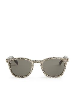 Saint Laurent | D-Frame Glitter Sunglasses