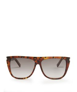 Saint Laurent | Flat Top Acetate Sunglasses