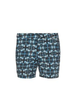 DANWARD | Leaf-Print Solid Swim Shorts