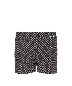 DANWARD | Geometric-Print Solid Swim Shorts
