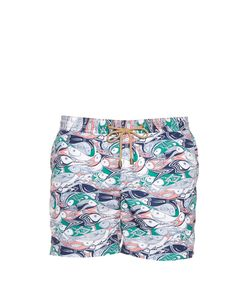 THORSUN | Fish-Print Swim Shorts