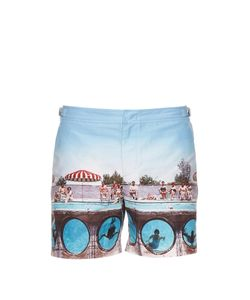 Orlebar Brown | Bulldog Swimming Around-Print Swim Shorts