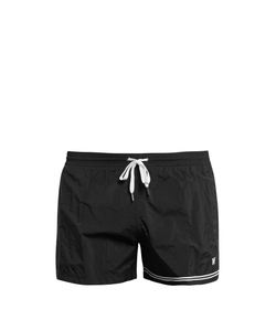 DANWARD | Stripe And Logo-Featured Swim Shorts