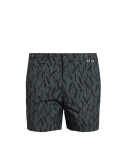 DANWARD | Arrow-Print Swim Shorts