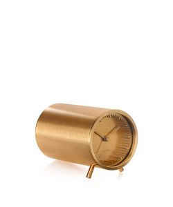 LEFF AMSTERDAM | Tube Brass-Plated Clock