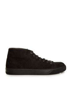 Lanvin | Mid-Top Grained-Suede Trainers