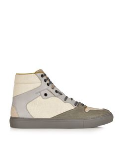 Balenciaga | High-Top Cracked-Leather Trainers