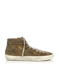 Golden Goose | Slide High-Top Suede Trainers