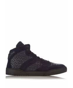 Bottega Veneta | Intrecciato High-Top Leather And Suede Trainers
