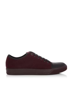 Lanvin | Low-Top Felt And Leather Trainers