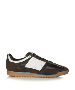 Maison Margiela | Retro Low-Top Suede And Leather Trainers